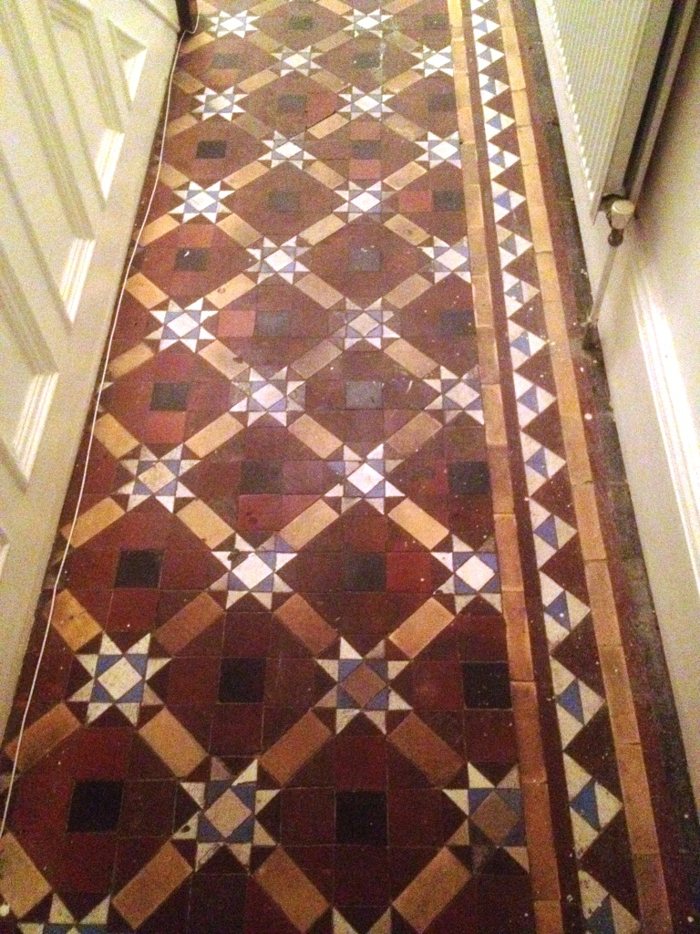Victorian Tiles Skipton Before Cleaning