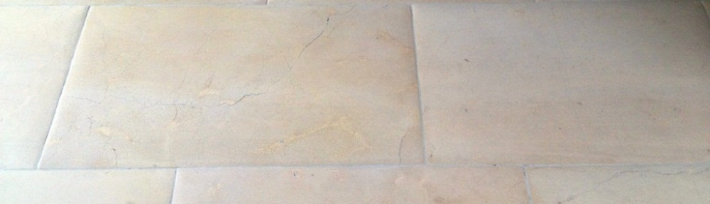 Limestone Flagstone Floor Cleaned and Polished in Austwick