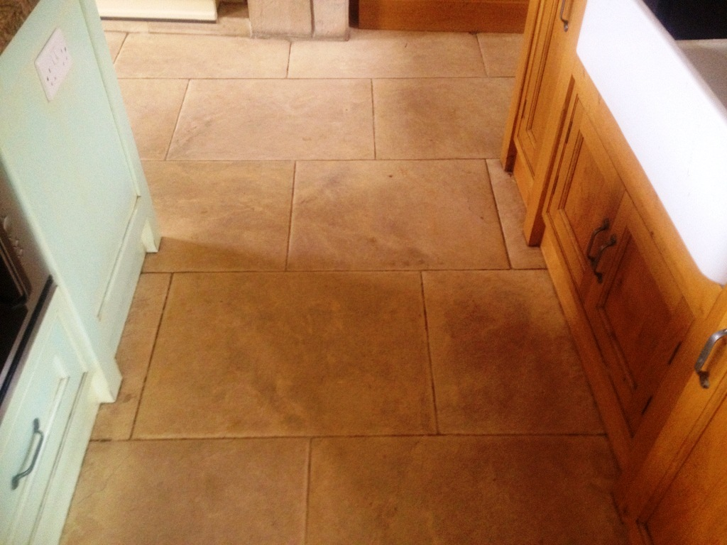 Cleaning And Polishing Classic Limestone Flagstones