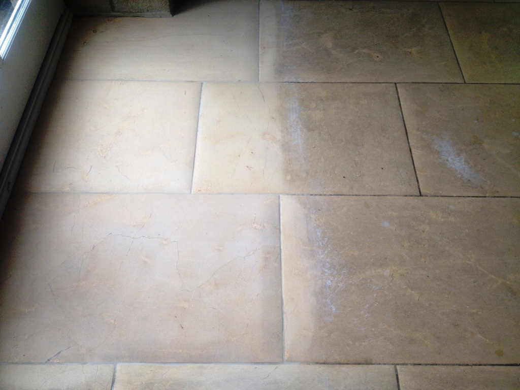 York Minster Limestone During Cleaning Harrogate