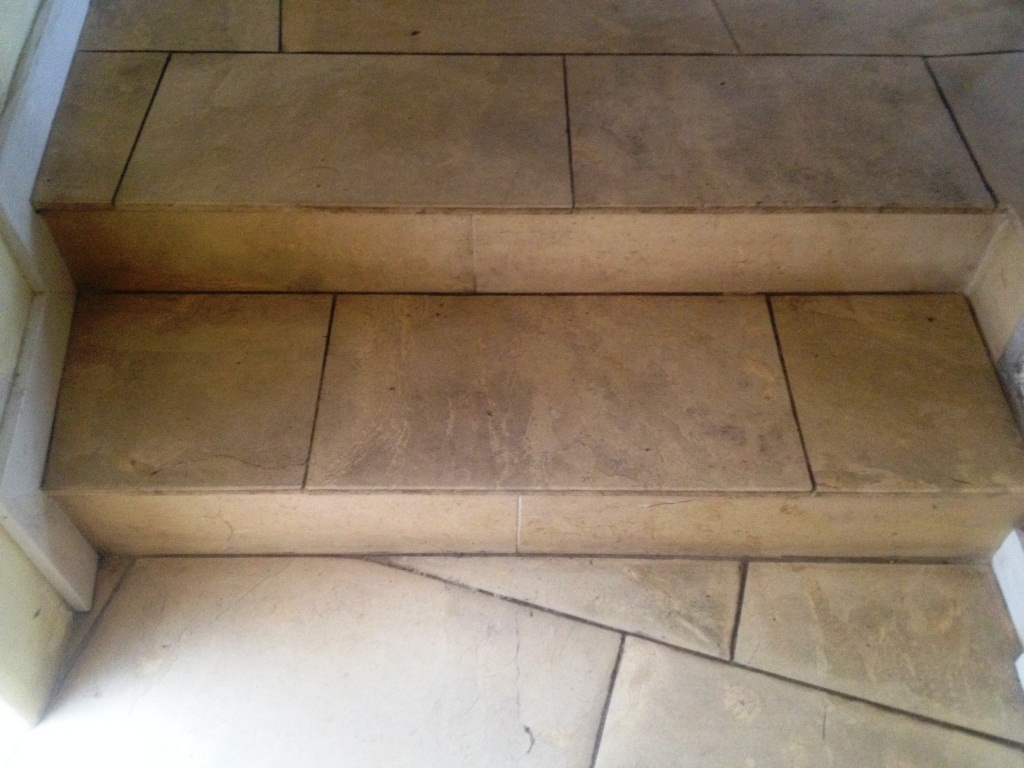 York Minster Limestone Stairs Before Cleaning Harrogate