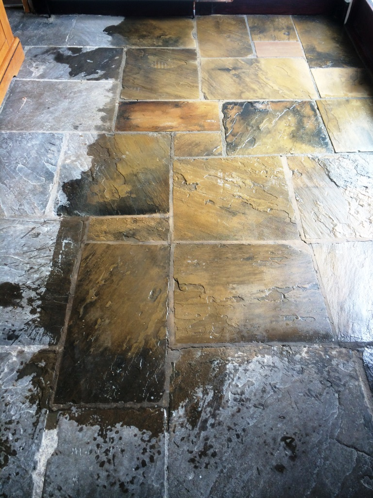 Yorkshire Stone Hebden Bridge During Cleaning