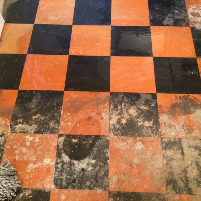 Linoleum Tiled Floor During Restoration in York