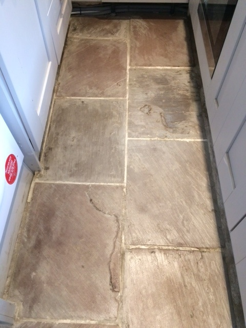 Indian Fossil Stone floor After Cleaning in Skipton