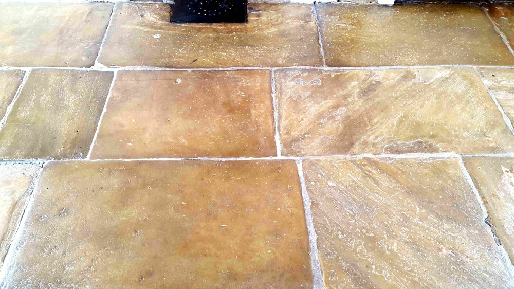 Old Yorkshire Flagstones After Cleaning Haworth