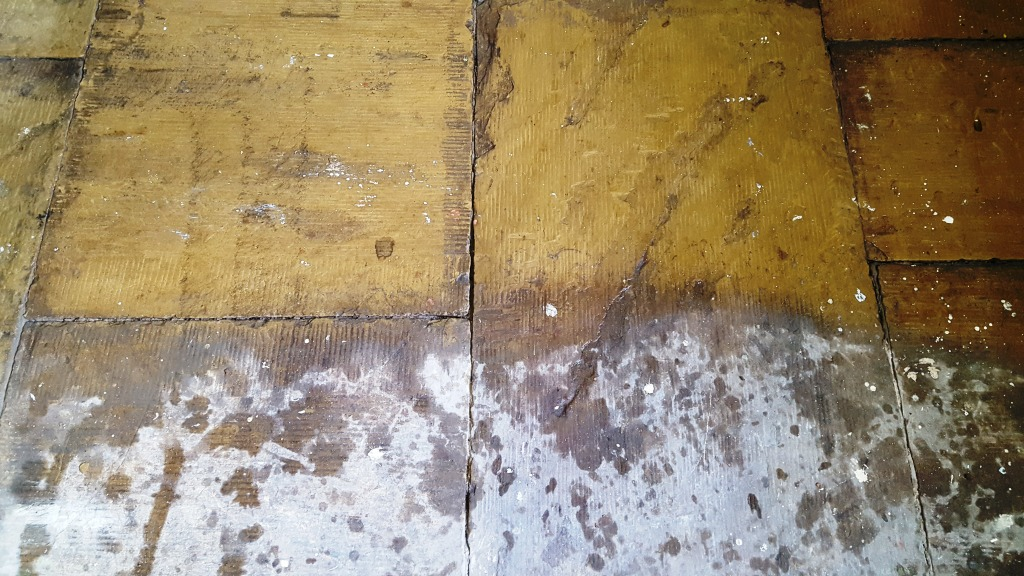Salts Mill Yorkshire Sandstone Stone Floor During Cleaning
