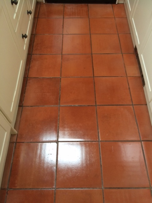 Spanish Terracotta Kitchen After Cleaning and Sealing Halifax