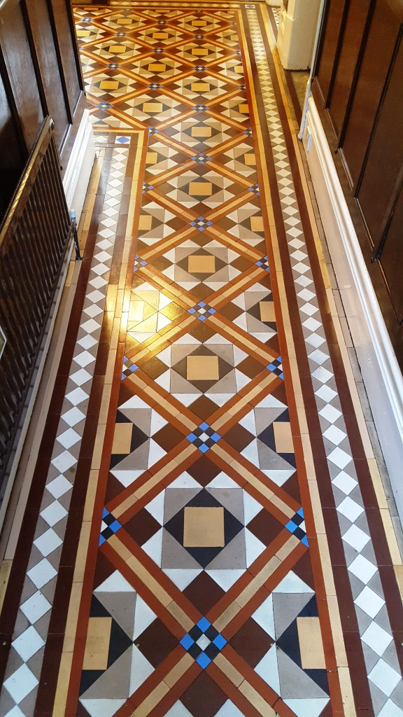 Victorian tiled hallway after cleaning Hebden