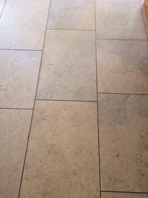 Blue Moleanos Limestone Floor Before Cleaning in Ripley