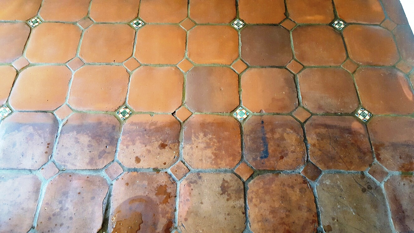Catalan Terracotta During Cleaning Halifax Farmhouse