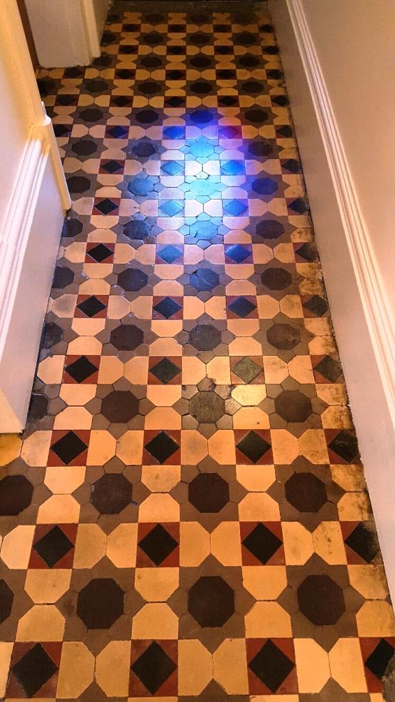 Old Victorian Tiled Floor Atfer Restoration in Knaresborough