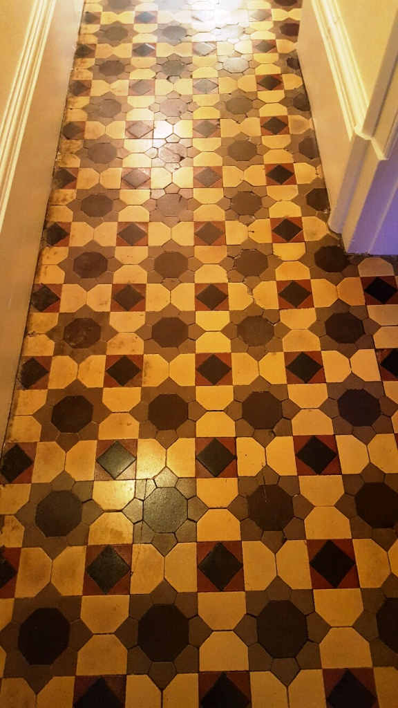 Old Victorian Tiled Floor Atfer Restoration in Knaresborough