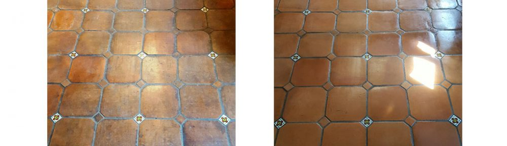 Dirty Catalan Terracotta Tiles Restored at a Halifax Farmhouse
