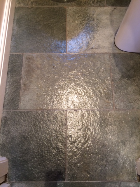 Westmorland Green Slate Floor After Cleaning in Ripley