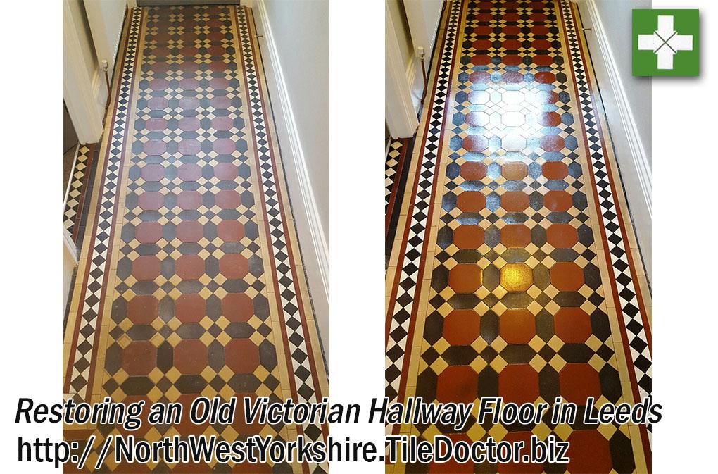 Victorian Floor Before and After Restoration in Leeds