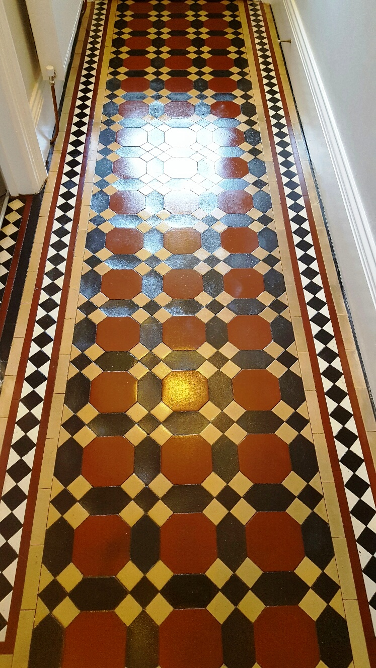 Victorian Tiled Hallway Floor After Cleaning Leeds