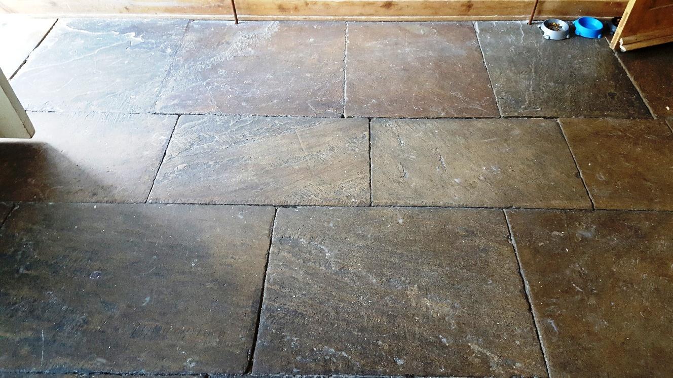 Yorkshire Stone Floor Guiseley Leeds Before Cleaning