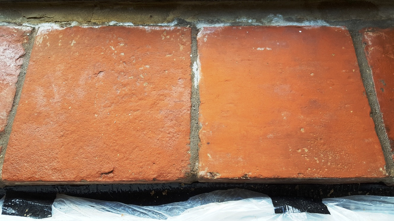 Catalan Terracotta Window Sill Sherburn in Elmet After Cleaning