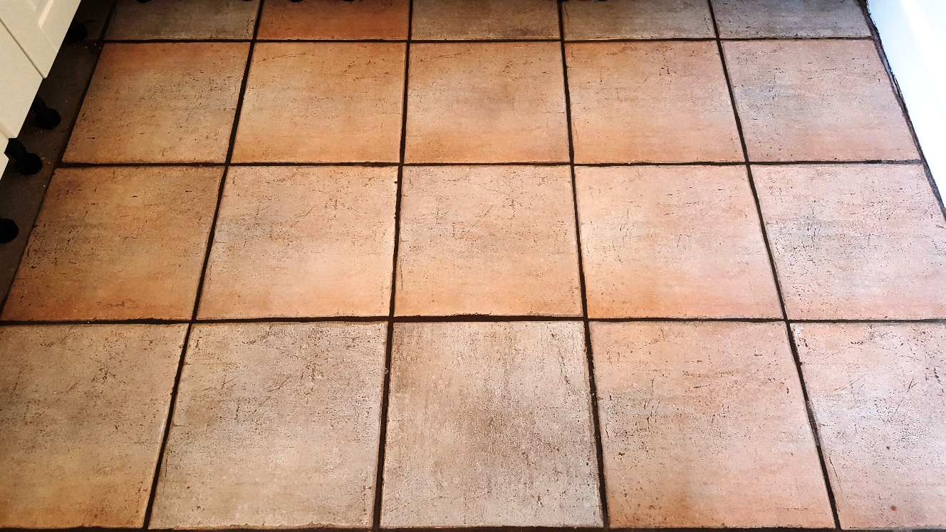 Ceramic Floor Tiles After Cleaning in Sherburn in Elmet Kitchen