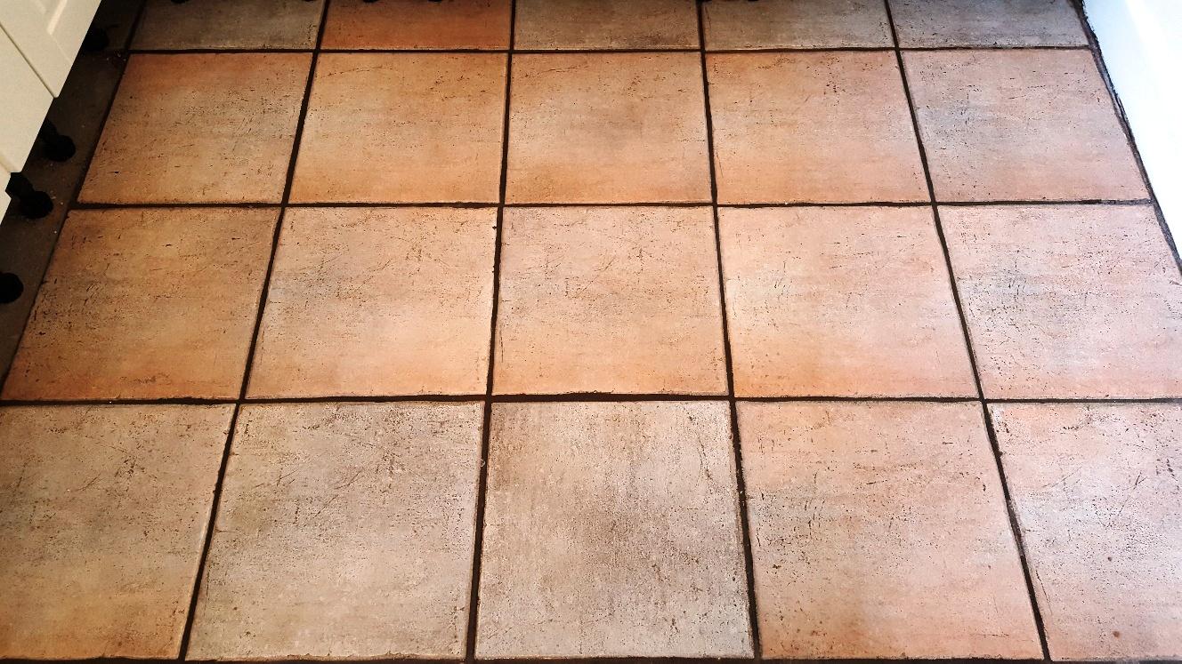 Ceramic Floor Tiles After Cleaning in Sherburn in Elmet Kitchen