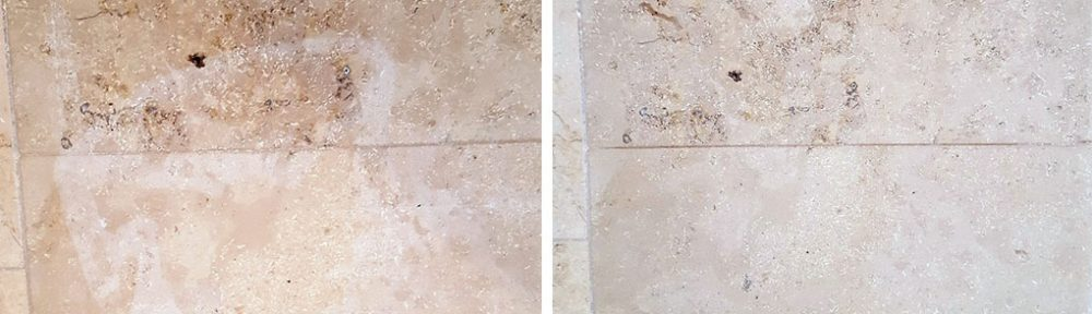Bleach-Damaged Jura Limestone Tiles Restored in Harrogate