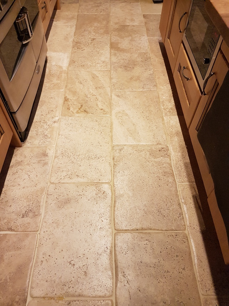 Bullnose Travertine Before Cleaning Patley Bridge
