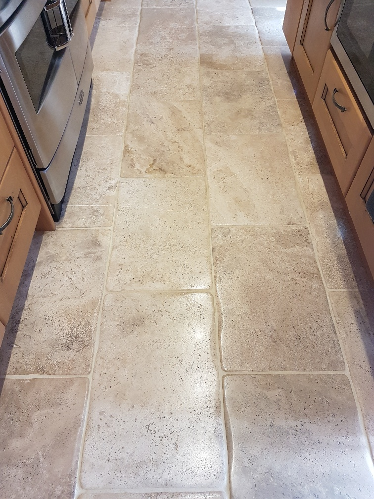 Bullnose Travertine During Cleaning Patley Bridge