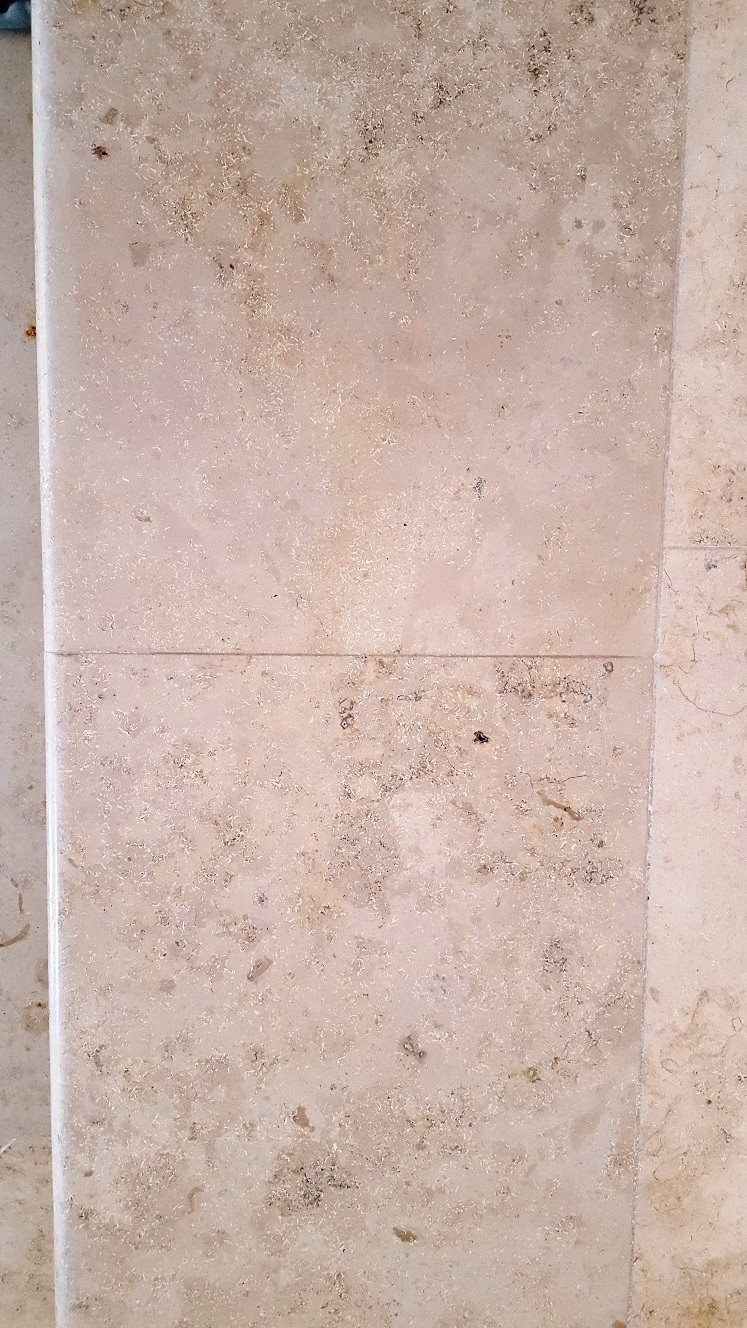 Large Jura Limestone Floor After Cleaning Beckwithshaw Near Harrogate