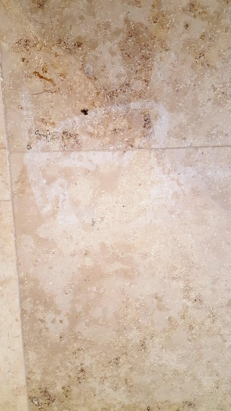 Large Jura Limestone Floor Before Cleaning Beckwithshaw Near Harrogate