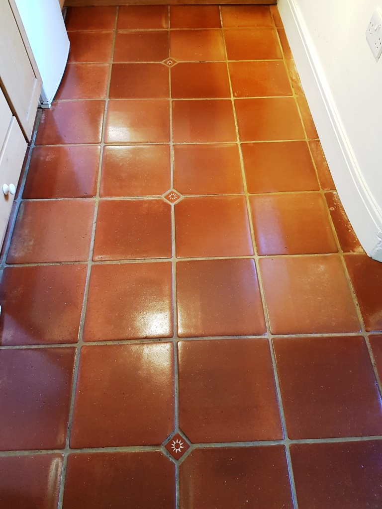 Mexican terracotta floor tiles