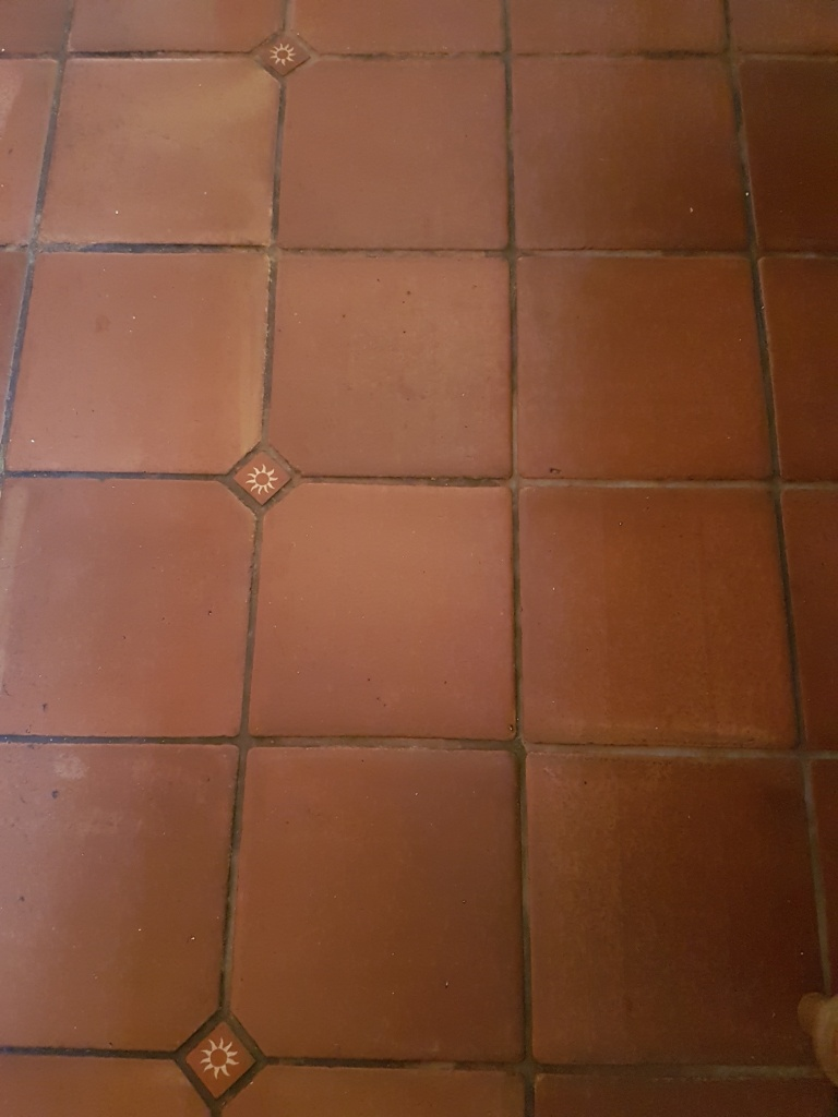 Mexican Terracotta Floor Before Cleaning York
