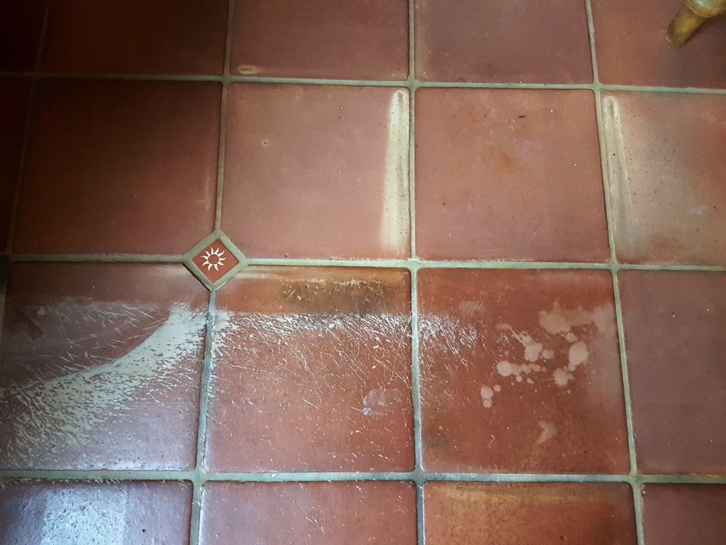 Mexican Terracotta Floor During Cleaning York