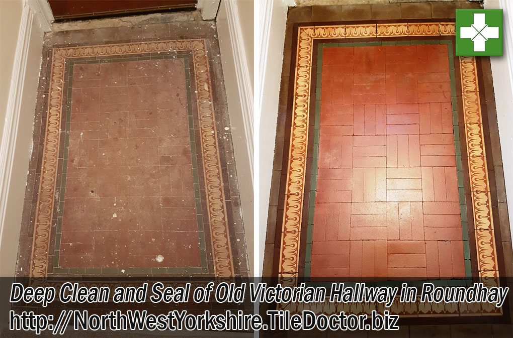 Victorian Hallway Floor Before and After Renovation in Roundhay