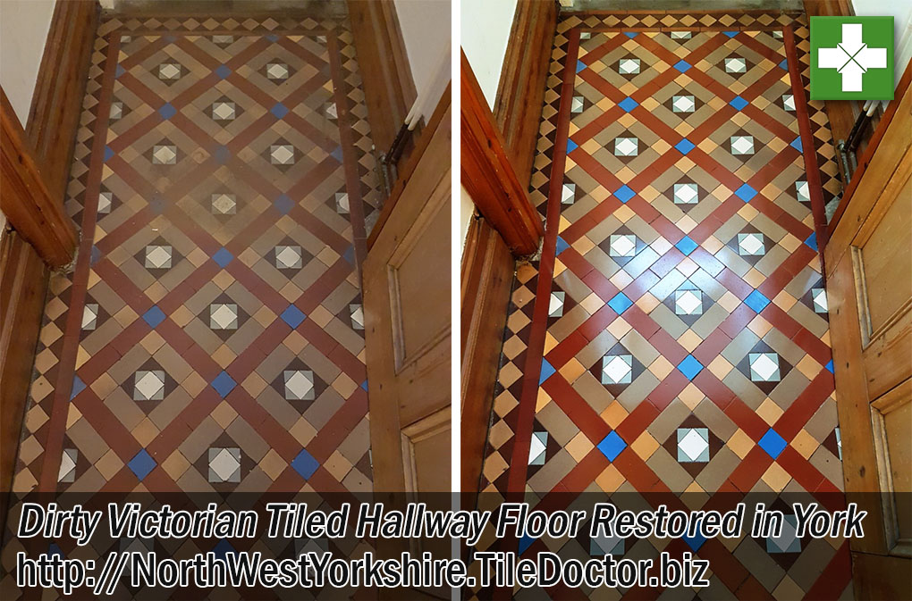 Victorian Hallway Floor Before and After Restoration in York