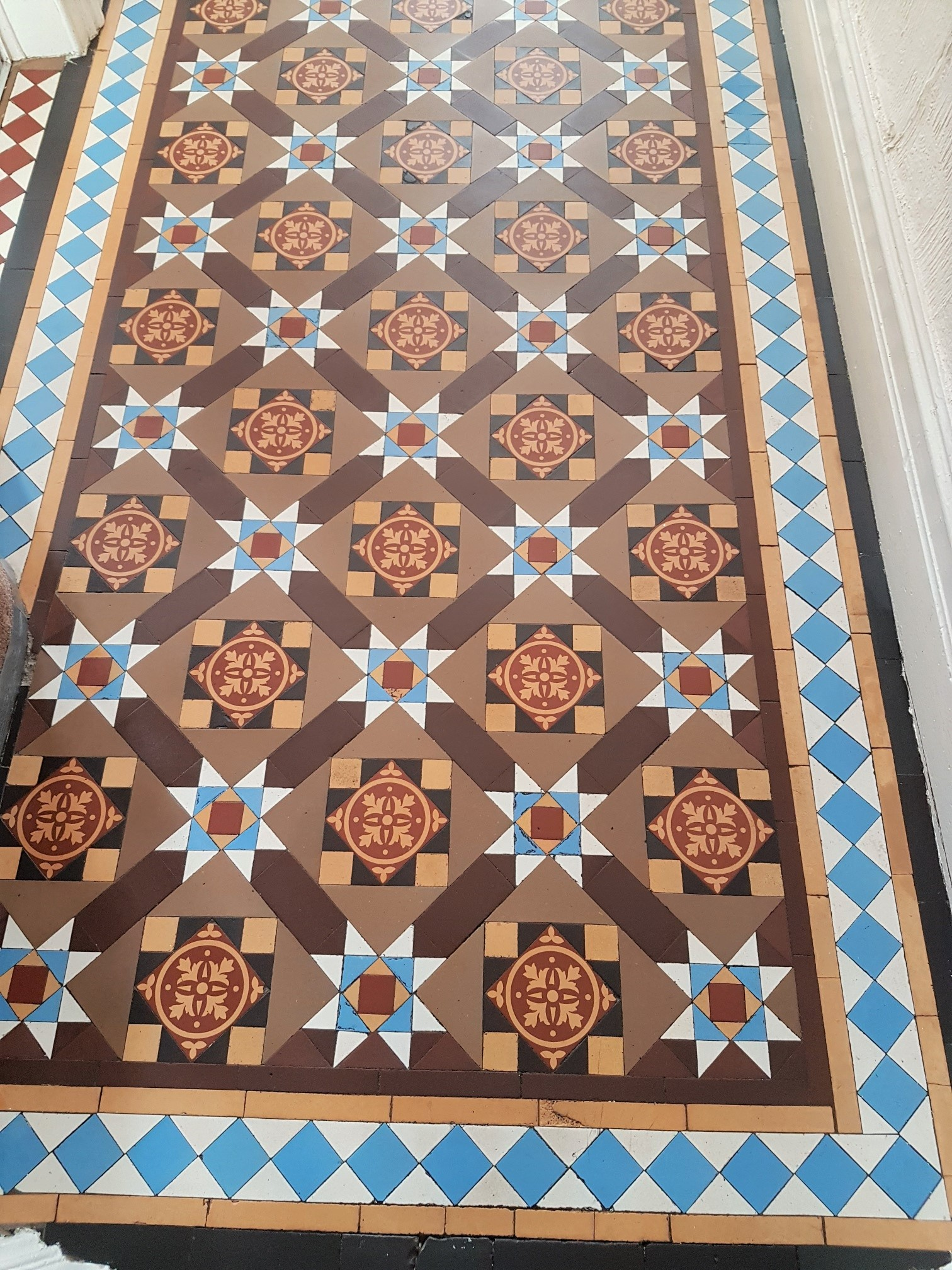 Victorian Tiled Entrance Ilkley After Cleaning