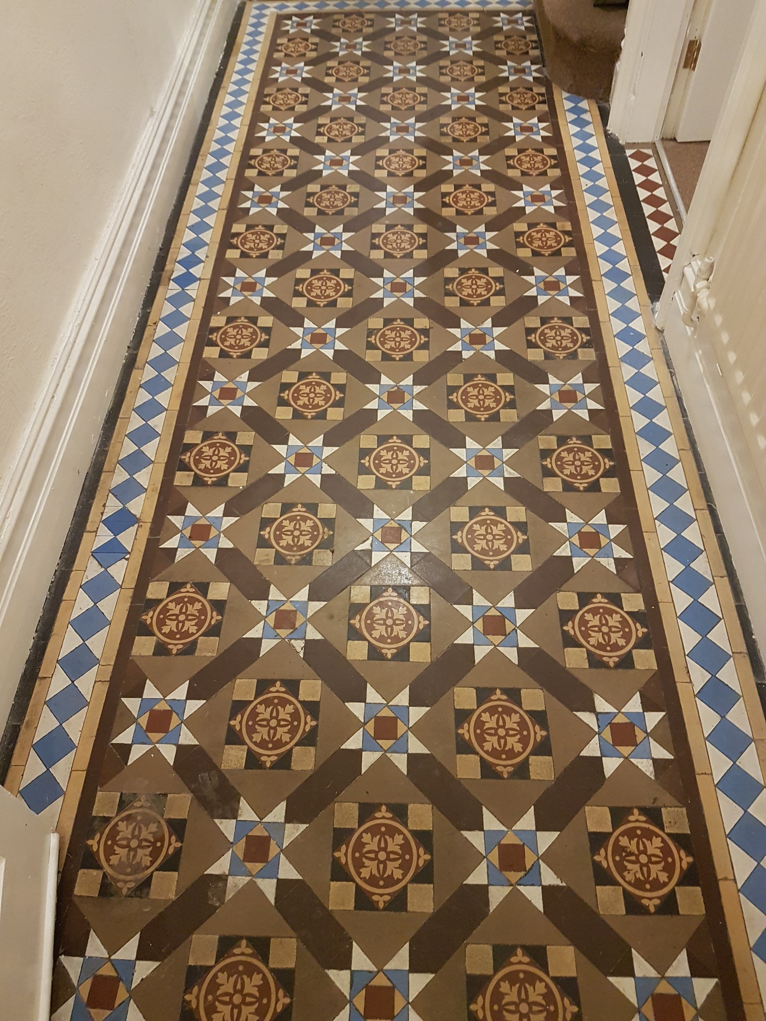 Victorian Tiled Entrance Ilkley Before Cleaning