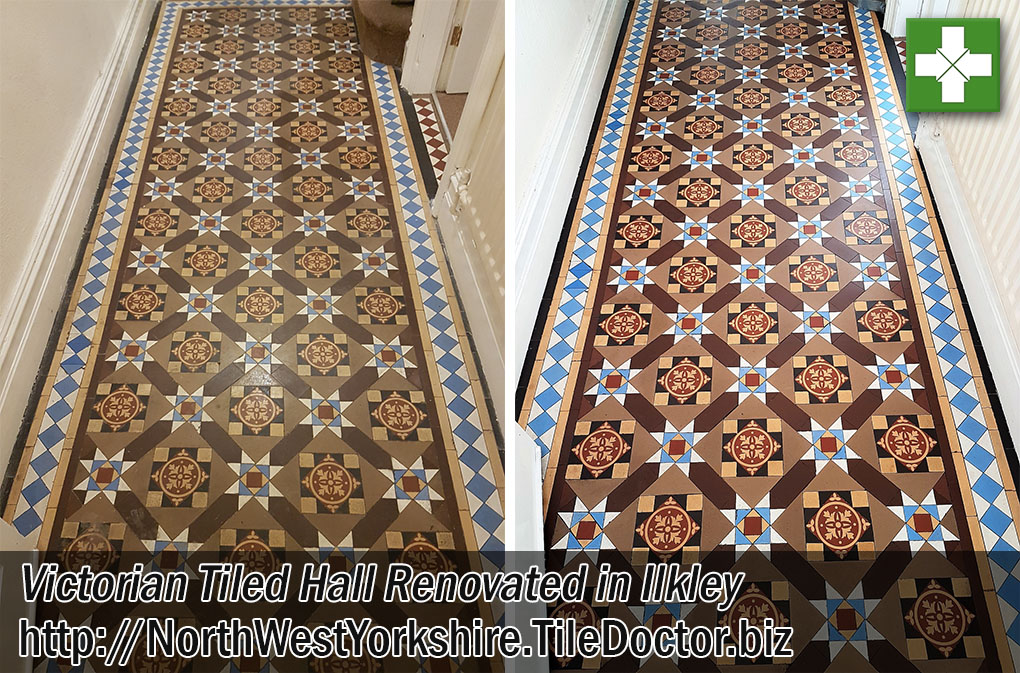 Victorian Tiled Hall Before and After Renovation in Ilkley