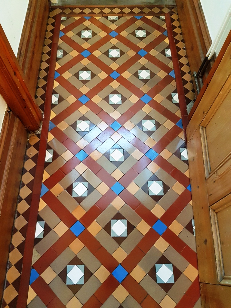 Victorian Tiled Hallway Floor After Cleaning York