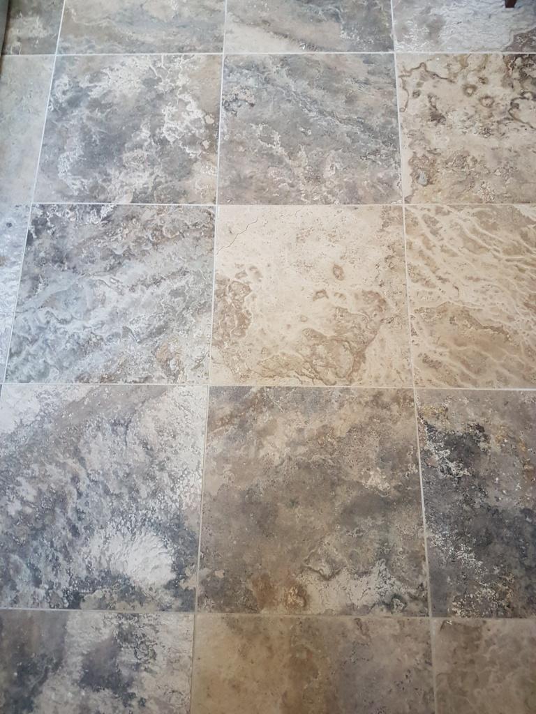 Jura Limestone Tiled Floor Before renovation