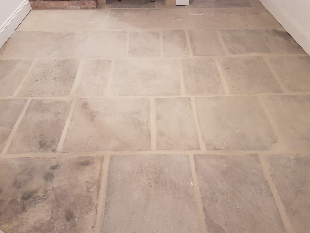 Yorkshire Stone Before Cleaning in East Morton