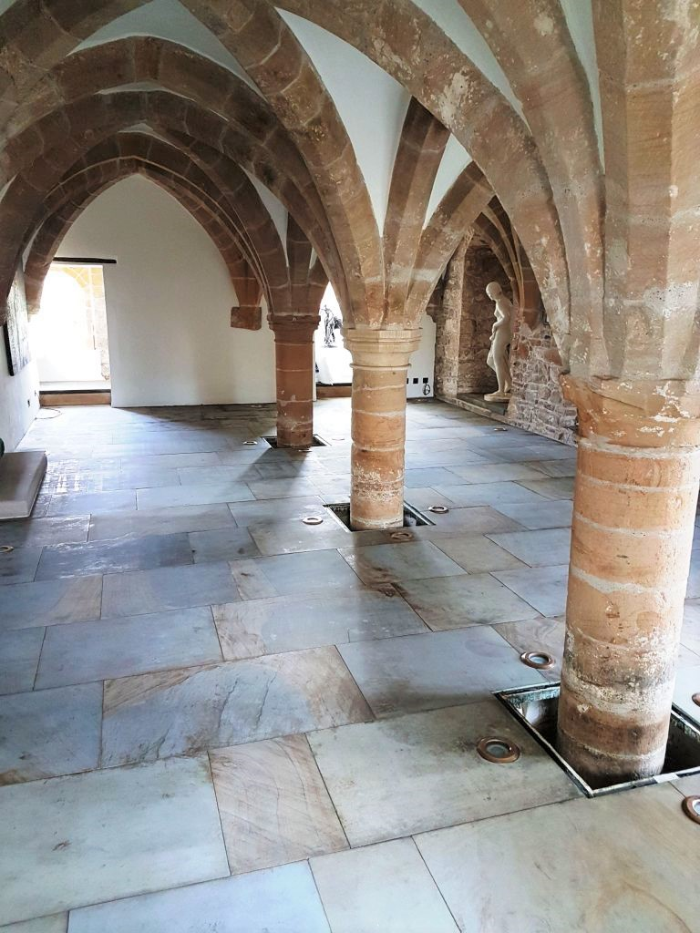 Sandstone Floor After Cleaning 12th Century Undercroft Bedale