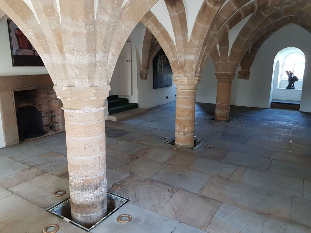 Sandstone Floor After Sealing 12th Century Undercroft Bedale