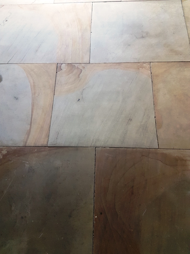 Sandstone Floor During Cleaning 12th Century Undercroft Bedale