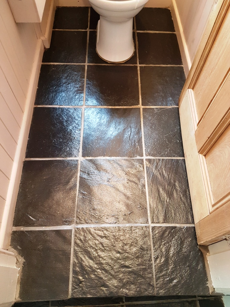 Slate Tiled WC Floor York After Cleaning