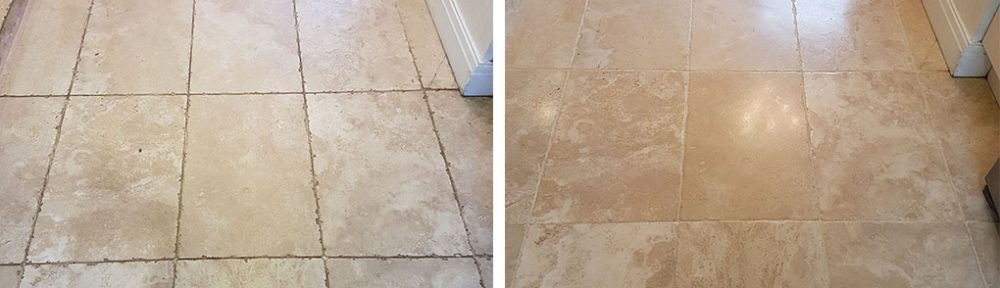 Grade A Tumbled Travertine Floor Transformed in Ripon