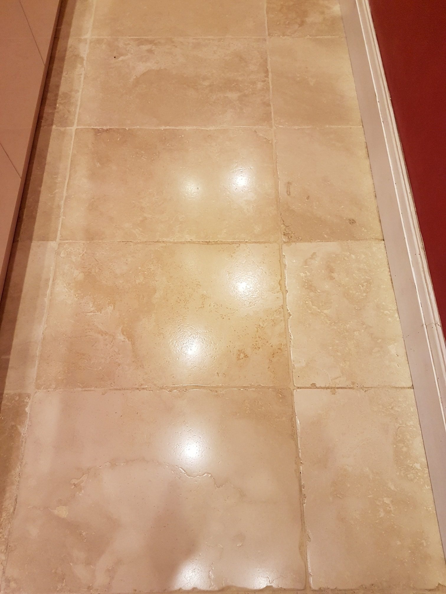 Tumbled Travertine Ripon After Cleaning