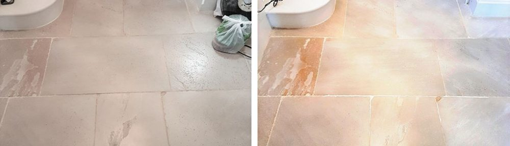 Cleaning Unique London White Limestone Flooring in Leyburn