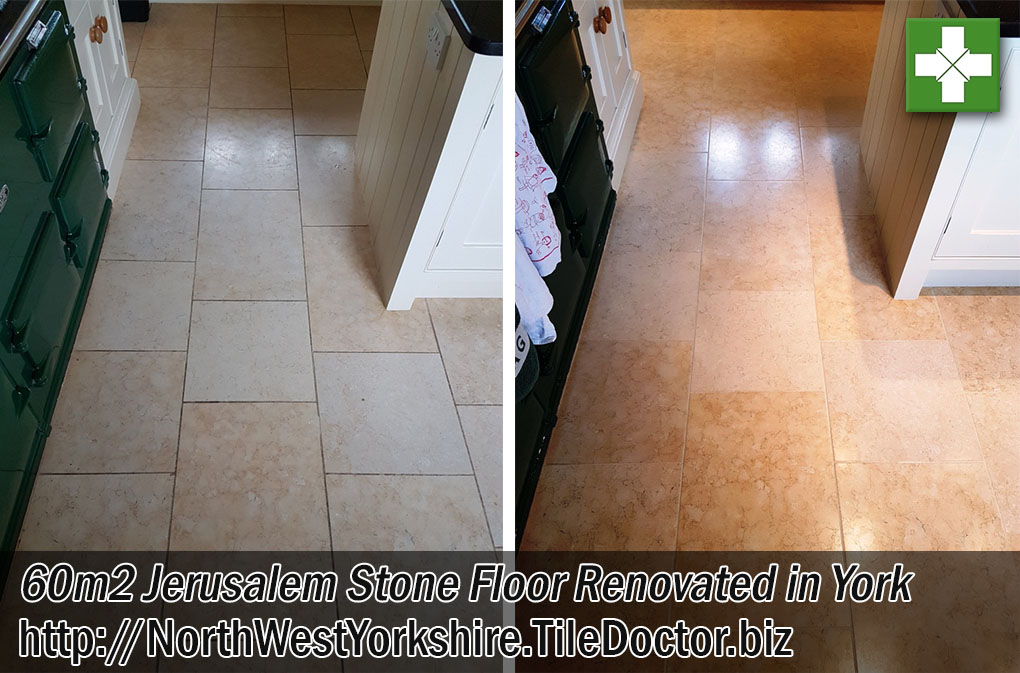 Jerusalem Stone Floor Before After Cleaning York
