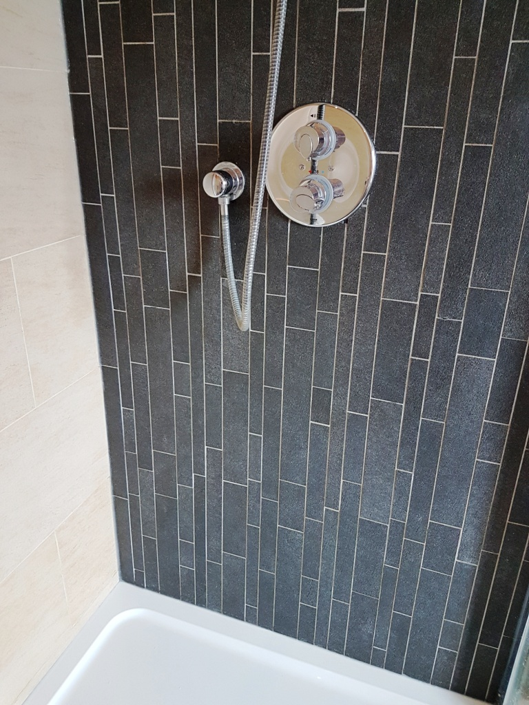Mouldy Porcelain Shower Cubicle After Cleaning Osmotherley