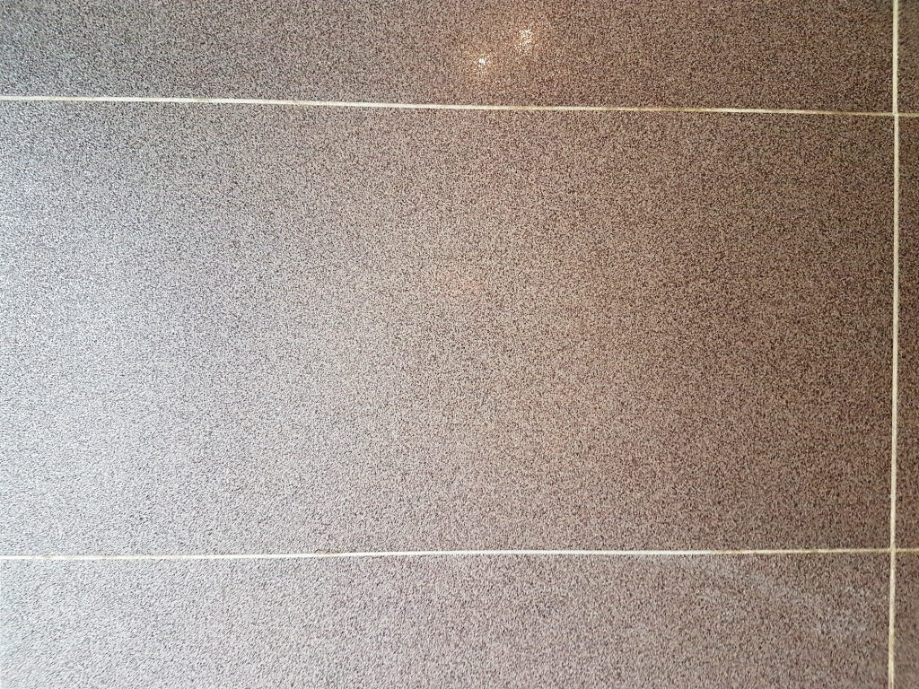 Textured Porcelain Tiles after Grout Haze Removed Leeds